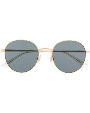 Прямые желтые солнцезащитные очки круглые металлические Bolon