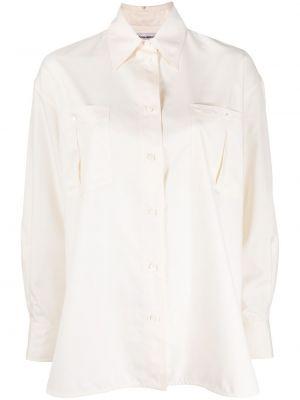 Рубашка с воротником с манжетами на пуговицах с карманами Victoria Beckham