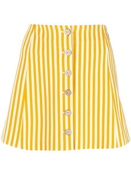Spódnica mini w paski z guzikami C'est La V.it