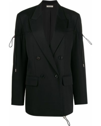 Пиджак черный в полоску Nina Ricci