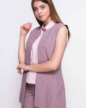 Розовая костюм с жилетом Zubrytskaya