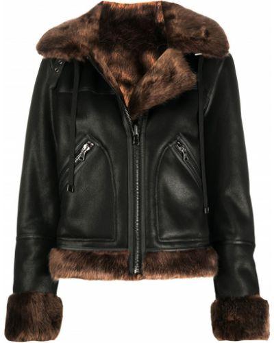 Прямая черная куртка на молнии с воротником Urbancode