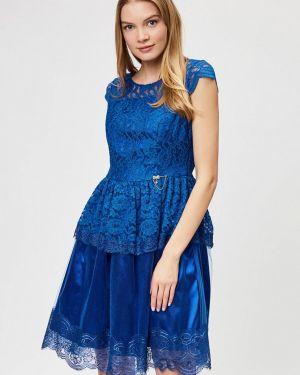 Вечернее платье синее D'she
