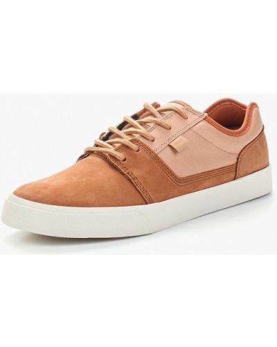 Коричневые кеды из нубука Dc Shoes