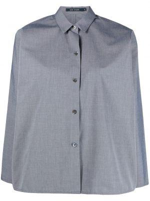 Хлопковая черная классическая рубашка с длинными рукавами Sofie D'hoore