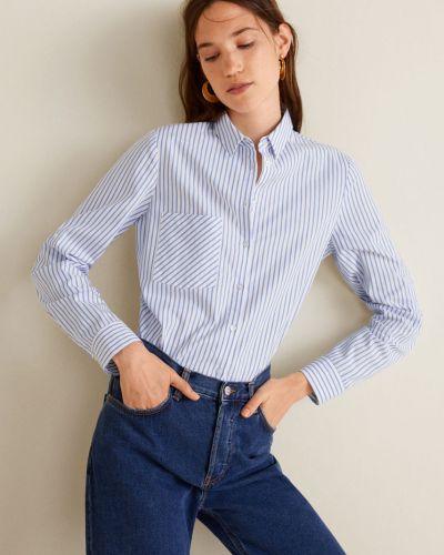 Блузка с длинным рукавом в клетку с поясом Mango