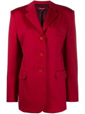 Красная свободная куртка с манжетами на пуговицах Sies Marjan