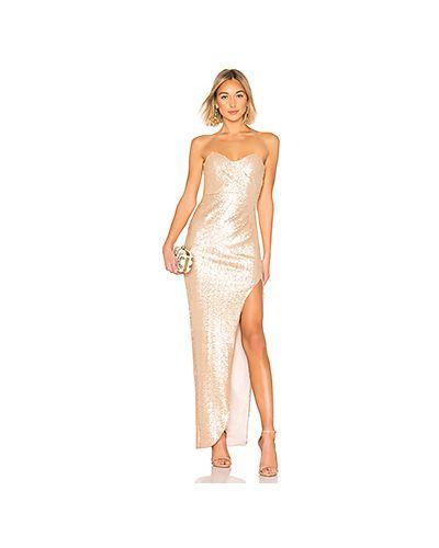 Вечернее платье на молнии золотой Nookie