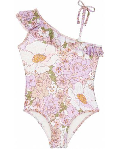 Z paskiem różowy strój kąpielowy Zimmermann
