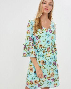 Платье бирюзовый прямое Likadis