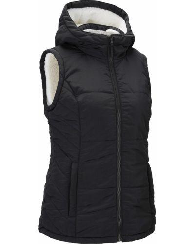 Черная жилетка на молнии с карманами со вставками Bonprix