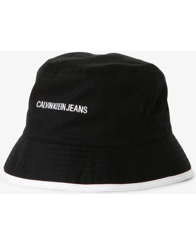 Czarna czapka bawełniana Calvin Klein Jeans