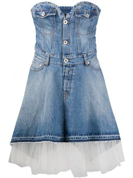 Sukienka mini dżinsowa z kieszeniami Unravel Project