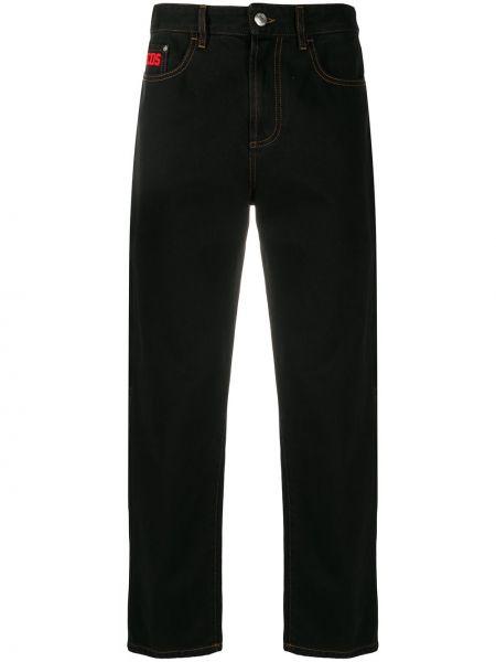 Czarne jeansy bawełniane Gcds