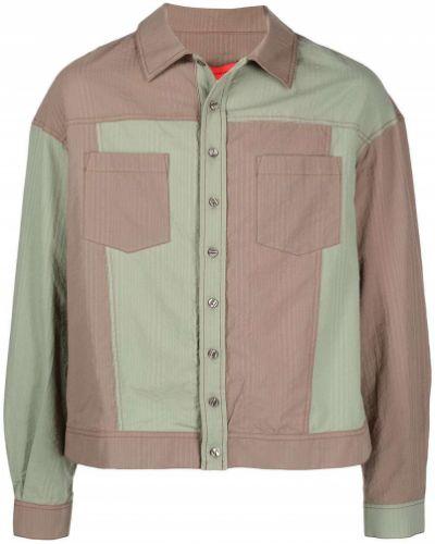 Зеленая рубашка с длинными рукавами с воротником Eckhaus Latta