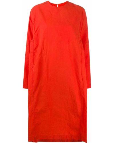 Оранжевое платье макси оверсайз с длинными рукавами круглое Casey Casey