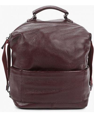 Красный городской рюкзак из натуральной кожи Valensiy