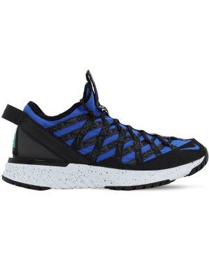 Кроссовки на шнуровке - синие Nike Acg