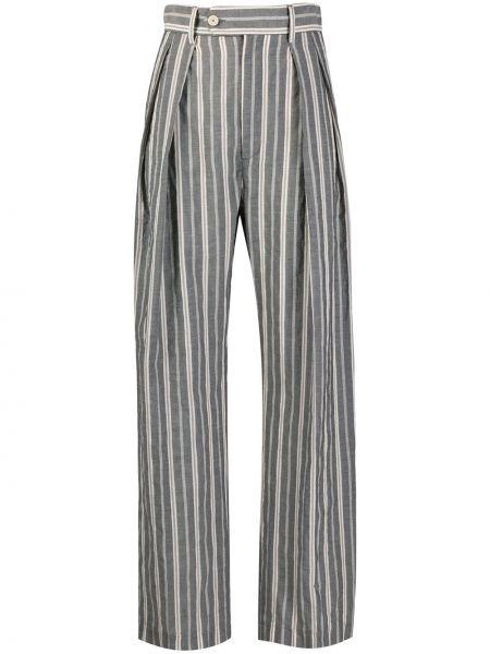 Брюки с завышенной талией в полоску брюки-хулиганы Barena