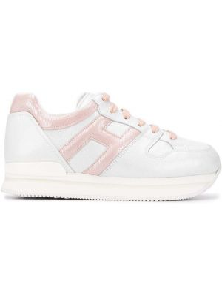 Кожаные кроссовки розовый светлые Hogan