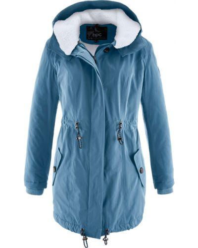 Зимняя куртка джинсовая длинная Bonprix