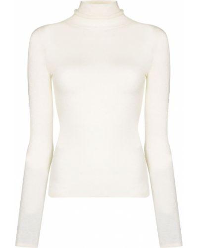 Biały sweter wełniany J-brand