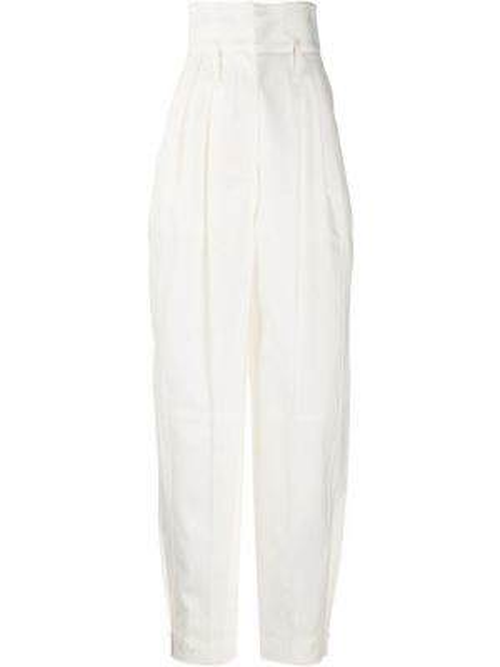 Spodnie z wysokim stanem białe spodnie chuligańskie Givenchy