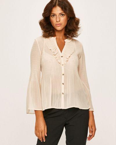 Блузка с длинным рукавом однотонная с V-образным вырезом Pepe Jeans