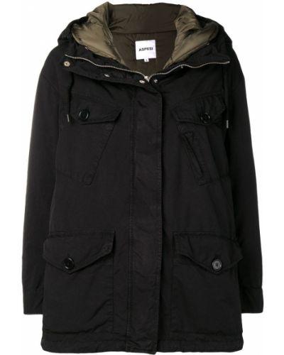 Пальто с капюшоном на молнии на кнопках Aspesi