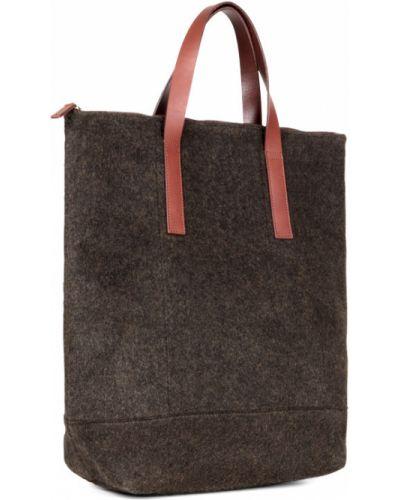 Кожаная сумка текстильная сумка-шоппер Ecco