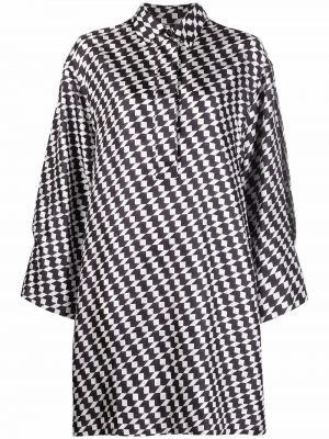 Платье макси с длинными рукавами - белое Odeeh