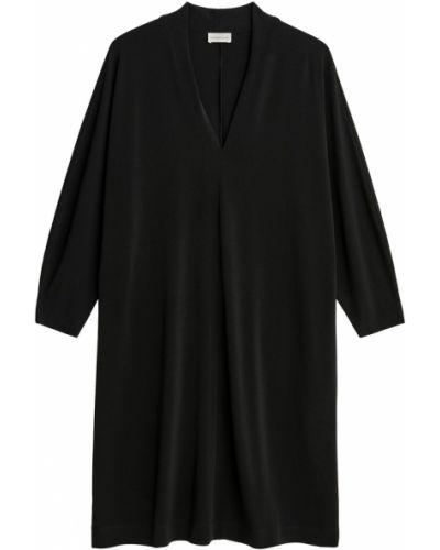 Czarna sukienka midi elegancka oversize By Malene Birger