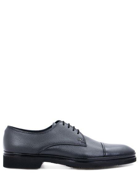 Туфли на шнуровке серые на каблуке Aldo Brue