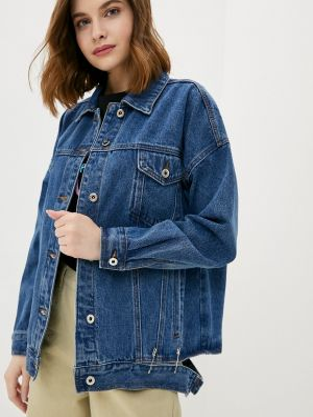 Джинсовая куртка весенняя синий Befree