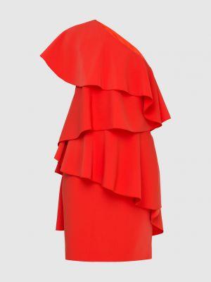 Красное платье миди Lanvin