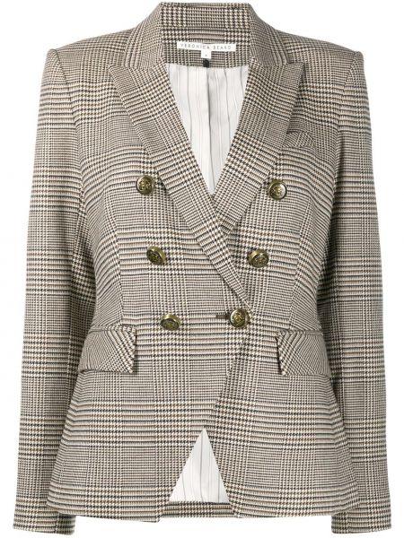 С рукавами шерстяной удлиненный пиджак двубортный на пуговицах Veronica Beard
