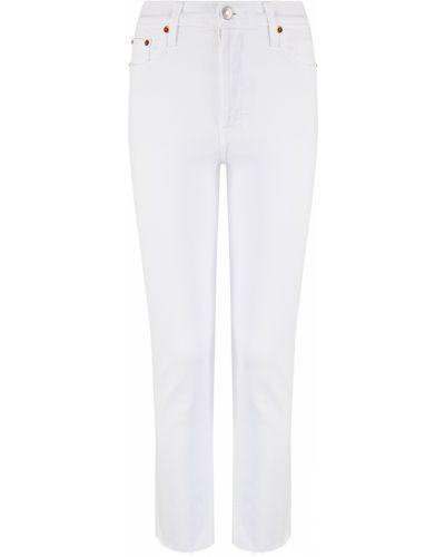 Облегающие белые укороченные джинсы с карманами Re/done