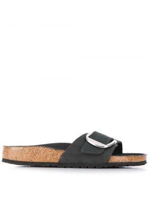 Черные сандалии с пряжкой с тиснением Birkenstock
