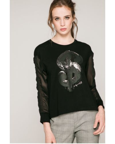 Блузка из вискозы черная Andy Warhol By Pepe Jeans