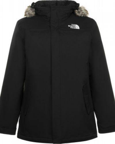 Черная утепленная куртка на молнии The North Face