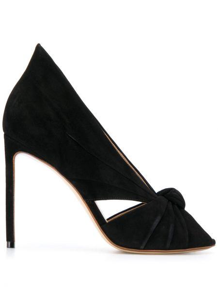 Туфли на каблуке на высоком каблуке с открытым носком Francesco Russo