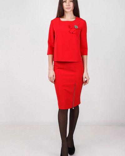 Красный юбочный костюм Zubrytskaya
