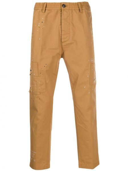 Przycięte spodnie, żółty Dsquared2