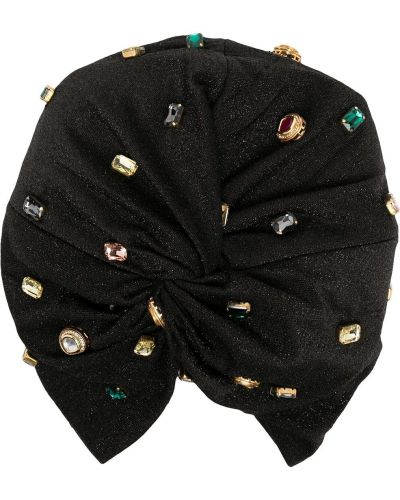 Czarny turban z wiskozy Maryjane Claverol