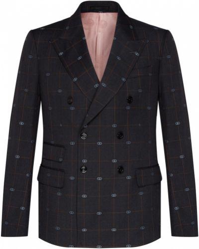 Коричневый домашний костюмный брючный костюм двубортный Gucci