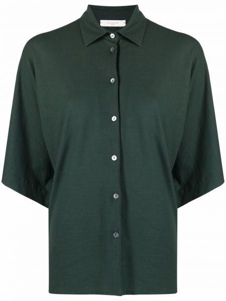 Хлопковая рубашка - зеленая Zanone