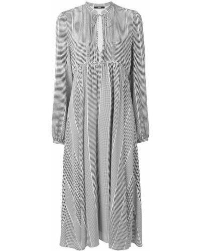 Платье в горошек с вырезом Sly010