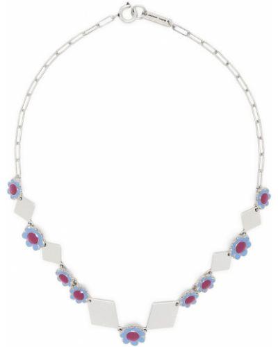 Niebieski naszyjnik srebrny Isabel Marant