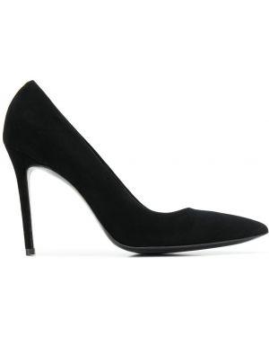 Черные туфли-лодочки на каблуке Maison Ernest