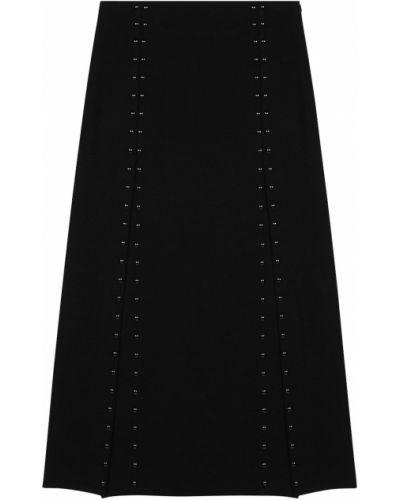 Черная юбка миди Maje